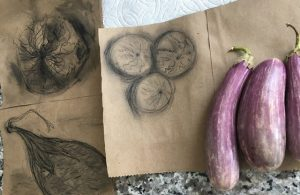 Sketches Vegetables Whole Foods Paper Bag