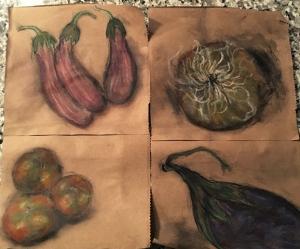 VegetableDrawingsWholeFoodsPaperBag