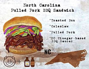 Pulled Pork BBQ Sandwich from North Carolina