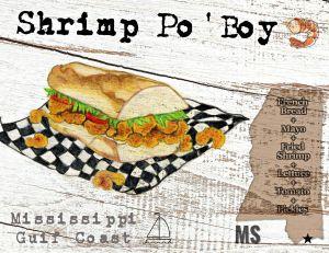 Shrimp Po'Boy Sandwich from the Mississippi Gulf Coast
